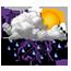 Orages avec averses de pluie