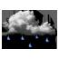Pluies éparses faibles